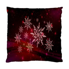 Christmas Snowflake Ice Crystal Standard Cushion Case (one Side)