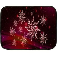 Christmas Snowflake Ice Crystal Fleece Blanket (mini)