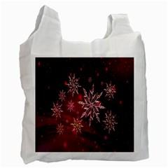 Christmas Snowflake Ice Crystal Recycle Bag (Two Side)