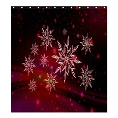 Christmas Snowflake Ice Crystal Shower Curtain 66  x 72  (Large)