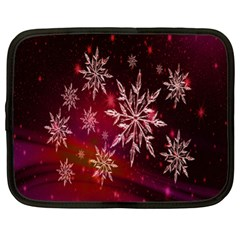 Christmas Snowflake Ice Crystal Netbook Case (XL)