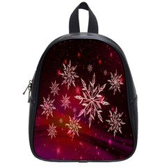 Christmas Snowflake Ice Crystal School Bags (Small)