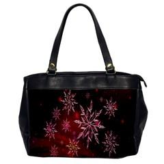 Christmas Snowflake Ice Crystal Office Handbags