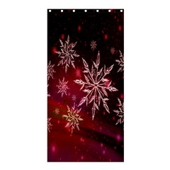 Christmas Snowflake Ice Crystal Shower Curtain 36  x 72  (Stall)