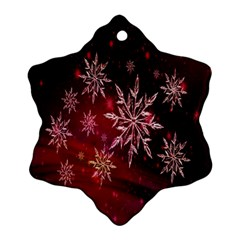 Christmas Snowflake Ice Crystal Snowflake Ornament (Two Sides)