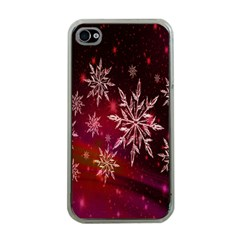 Christmas Snowflake Ice Crystal Apple iPhone 4 Case (Clear)