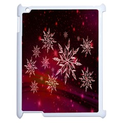 Christmas Snowflake Ice Crystal Apple iPad 2 Case (White)
