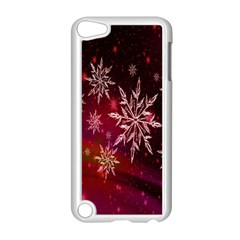 Christmas Snowflake Ice Crystal Apple Ipod Touch 5 Case (white)