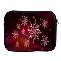 Christmas Snowflake Ice Crystal Apple iPad 2/3/4 Zipper Cases