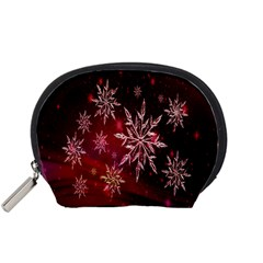 Christmas Snowflake Ice Crystal Accessory Pouches (Small)