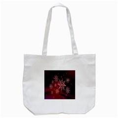 Christmas Snowflake Ice Crystal Tote Bag (white)