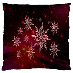 Christmas Snowflake Ice Crystal Standard Flano Cushion Case (Two Sides)