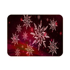 Christmas Snowflake Ice Crystal Double Sided Flano Blanket (Mini)