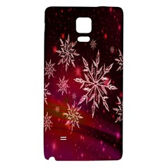 Christmas Snowflake Ice Crystal Galaxy Note 4 Back Case