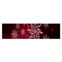 Christmas Snowflake Ice Crystal Satin Scarf (Oblong)
