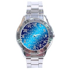 Christmas Star Light Advent Stainless Steel Analogue Watch