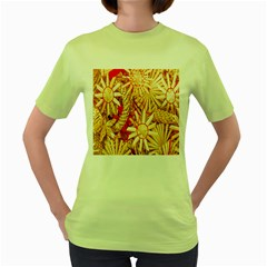 Christmas Straw Xmas Gold Women s Green T-Shirt