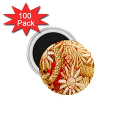 Christmas Straw Xmas Gold 1.75  Magnets (100 pack)