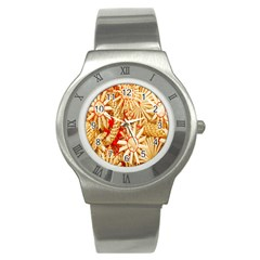 Christmas Straw Xmas Gold Stainless Steel Watch