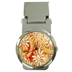 Christmas Straw Xmas Gold Money Clip Watches