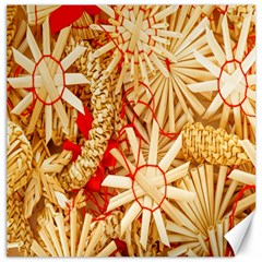 Christmas Straw Xmas Gold Canvas 12  X 12
