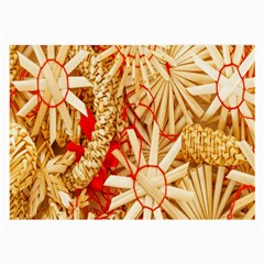 Christmas Straw Xmas Gold Large Glasses Cloth