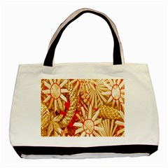 Christmas Straw Xmas Gold Basic Tote Bag (Two Sides)