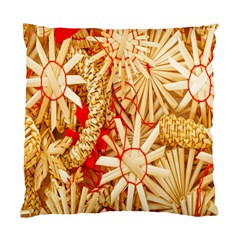 Christmas Straw Xmas Gold Standard Cushion Case (One Side)
