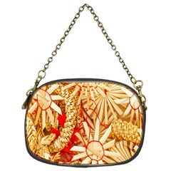 Christmas Straw Xmas Gold Chain Purses (Two Sides)