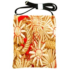 Christmas Straw Xmas Gold Shoulder Sling Bags