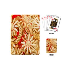 Christmas Straw Xmas Gold Playing Cards (Mini)