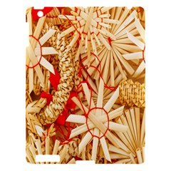 Christmas Straw Xmas Gold Apple iPad 3/4 Hardshell Case