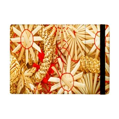 Christmas Straw Xmas Gold Apple iPad Mini Flip Case