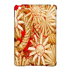 Christmas Straw Xmas Gold Apple iPad Mini Hardshell Case (Compatible with Smart Cover)