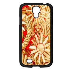 Christmas Straw Xmas Gold Samsung Galaxy S4 I9500/ I9505 Case (Black)