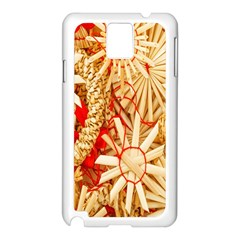 Christmas Straw Xmas Gold Samsung Galaxy Note 3 N9005 Case (white)