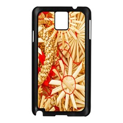 Christmas Straw Xmas Gold Samsung Galaxy Note 3 N9005 Case (Black)