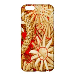 Christmas Straw Xmas Gold Apple Iphone 6 Plus/6s Plus Hardshell Case