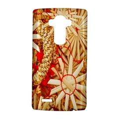Christmas Straw Xmas Gold LG G4 Hardshell Case