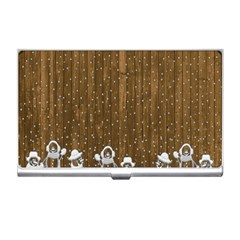 Christmas Snowmen Rustic Snow Business Card Holders
