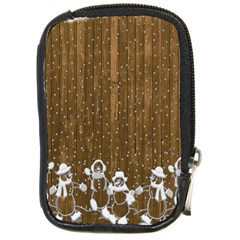 Christmas Snowmen Rustic Snow Compact Camera Cases