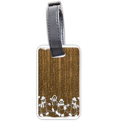 Christmas Snowmen Rustic Snow Luggage Tags (One Side)
