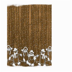 Christmas Snowmen Rustic Snow Large Garden Flag (Two Sides)