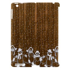 Christmas Snowmen Rustic Snow Apple Ipad 3/4 Hardshell Case (compatible With Smart Cover)
