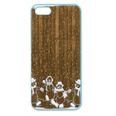 Christmas Snowmen Rustic Snow Apple Seamless iPhone 5 Case (Color)