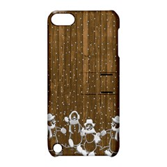 Christmas Snowmen Rustic Snow Apple Ipod Touch 5 Hardshell Case With Stand