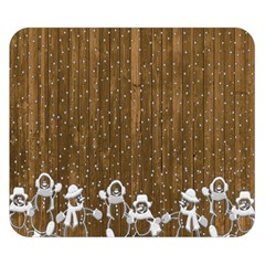 Christmas Snowmen Rustic Snow Double Sided Flano Blanket (Small)