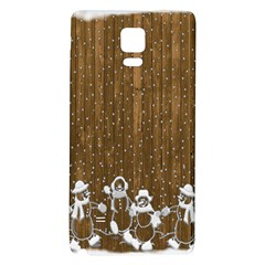 Christmas Snowmen Rustic Snow Galaxy Note 4 Back Case
