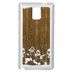 Christmas Snowmen Rustic Snow Samsung Galaxy Note 4 Case (White)