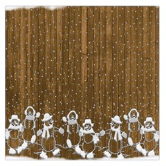 Christmas Snowmen Rustic Snow Large Satin Scarf (Square)
